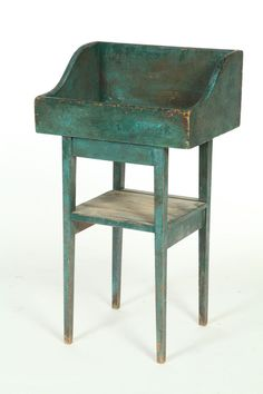 19th c. drysink or sorting table in original blue paint.  google.com