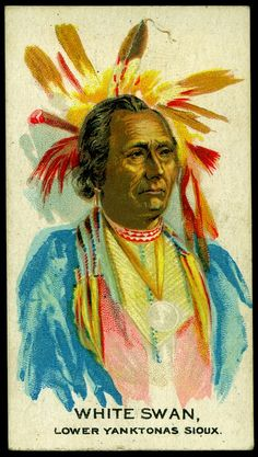 Cigarette Card - Indian Chief, White Swan