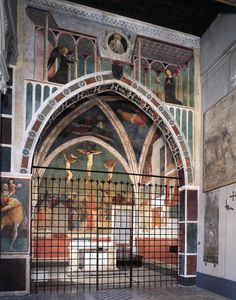 MASOLINO da Panicale View of the Chapel 1425-31 Fresco Castiglione Chapel, San Clemente, Rome