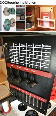 Organize the kitchen  *I love this! Especially with all the measuring cups and spoons!!