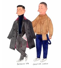 Patrick and Gautier Fashion Editor and Deputy Editor-in-chief of Esquire China @patrickwu526 @gautierchen #mensfashion #fashionillustration #esquiremagazine by Zurvita Zeal Wellness