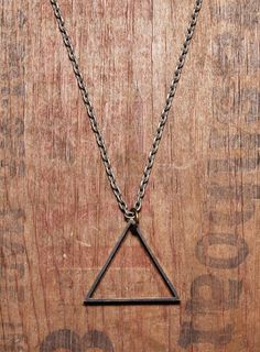 Mens Necklace  Mens Jewelry  Triangle pendant  by weareallsmith, $29.00