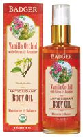 Badger Vanilla Orchid Body Oil - Organic Body Oil~Great way to self-nurture! Check out this and other great natural products at EarthTurns.com. Free Shipping on all orders within the USA! :)
