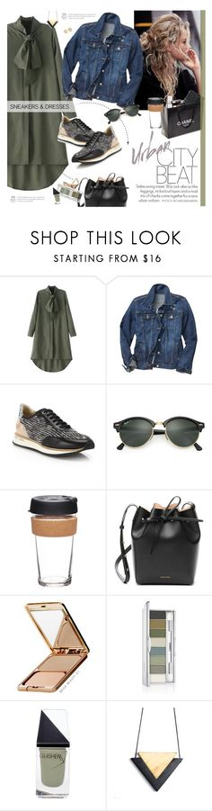 """""""Urban Chic"""" by happilyjynxed ❤ liked on Polyvore featuring WithChic, Gap, Chanel, Aquatalia by Marvin K., Ray-Ban, KeepCup, Mansur Gavriel, Napoleon Perdis, Clinique and GUiSHEM"""