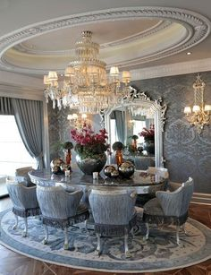 Pin for Later: Elegant Dining Room Decor. Luxury Dining Archives - Focus On Luxury. Luxury Dining Archives - Focus On […] Dining Room Decor Elegant, Luxury Dining Room, Beautiful Dining Rooms, Dining Room Design, Dining Room Table, Dining Area, Dining Chairs, Deco Design, Room Set