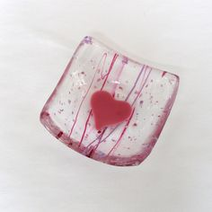 Fused Glass Dish Small Jewelry Dish or by GreenhouseGlassworks, $16.00 #valentinesday #glass #gift