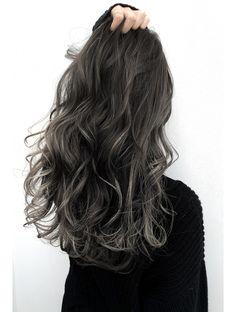 Ombre Hair Color, Hair Color For Black Hair, Cool Hair Color, Brown Hair Balayage, Hair Highlights, Korean Hair Color, Aesthetic Hair, Hair Looks, Dyed Hair