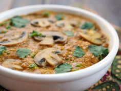 This recipe for Mushroom Mattar Methi Malai is a rich and creamy Indian dish that's vegan and paleo-friendly. Recipe by Ashley of MyHeartBeets.com
