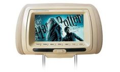 Jameson Js-781 7'' inç DVD USB'li Başlık Monitörü Koltuk Kafalık Monitörü Çift Siyah Gri Bej