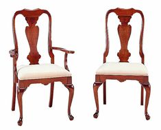 Cherry Queen Anne Dining Chairs by Colonial Furniture (570) 374-8091    We just scored 4 of these cheap.  Now I need to find 2 or 3 more to coordinate. Ours look more mahogany than cherry though.