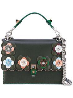 8f79a1a0a4a9 Fendi Embellished Kan I Shoulder Bag - Farfetch
