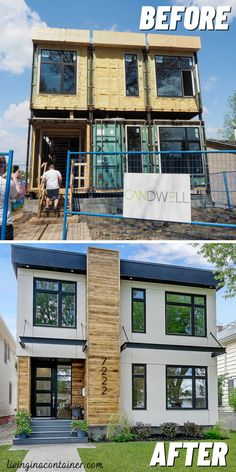 Tiny Container House, Prefab Container Homes, Cargo Container Homes, Shipping Container Home Designs, Building A Container Home, Shipping Containers, Prefab Homes, House Extension Design, Tiny House Design