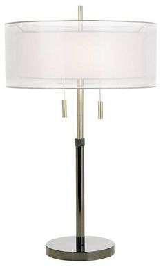 Seeri Double Shade Table Lamp - love this lamp shade for my living room. Would love to DIY if I could.