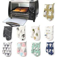 1Pc Cute Cartoon Kitchen Insulated Non-Slip Glove Thickening High Temperature Oven Glove #kitchen #glove #cook #cooking