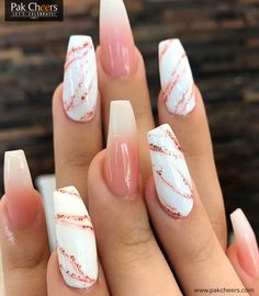 24 Chic marble nail art design ideas - marble nails, chic nail art designs, mix and matched nail inspiration, nails Nails Chic Nail Art, Chic Nails, Stylish Nails, Trendy Nail Art, 3d Nail Art, Summer Acrylic Nails, Cute Acrylic Nails, Spring Nails, Summer Nails