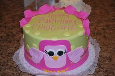 Charlotte's owl birthday cake- from Premier Pastry, Rochester, NY
