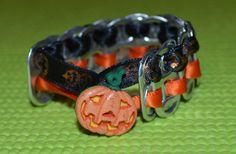 Halloween Pumpkin Pop Top Bracelet by ADRCrafts on Etsy, $8.00