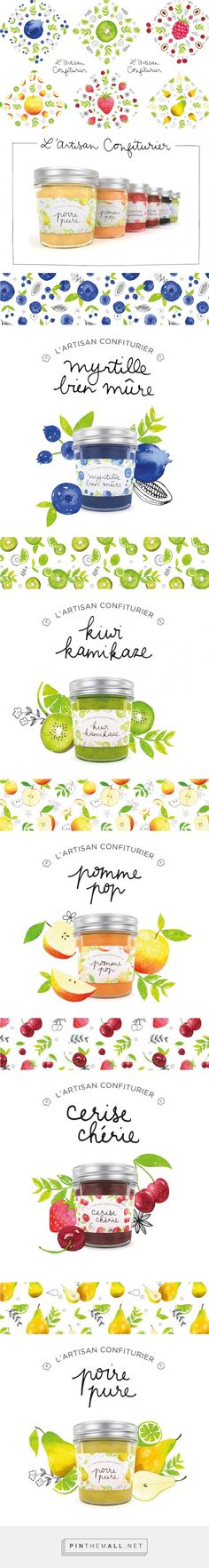 L'Artisan Confiturier (Concept) on Packaging of the World - Creative Package Design Gallery Más Fruit Packaging, Pretty Packaging, Brand Packaging, Design Packaging, Coffee Packaging, Bottle Packaging, Product Packaging, Label Design, Branding Design