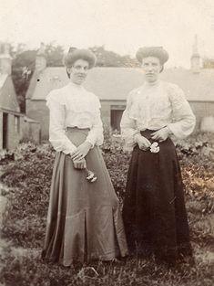 Two women in a garden c.1907