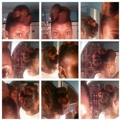 Pin-tuck style...natural protective style