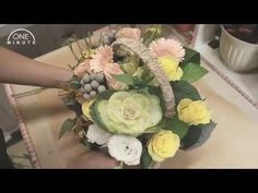 TheFlowerBucket - 꽃바구니 제작과정 - YouTube