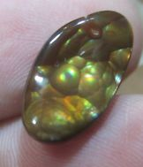 All Natural From Mexico MEXICAN Fire Agate Cab green super bubbles 15x9