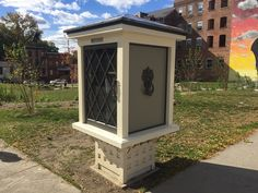 Little Free Library Now at Liberty Street and Broadway...