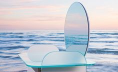 Created by Cristina Celestino for Tonelli design, 'Opalina' — a benchmark in Italian glass manufacturing — is a collection of furniture that pushes the definition. Cristina Celestino, Milan, Glass Furniture, Design Studio, Jpg, Photography Projects, Best Interior, Lighting Design, Surfboard