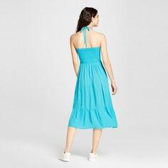 Women's Convertible Halter Maxi Dress - Mossimo Supply Co. Blue Xxl