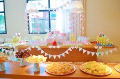 Festa DIY Peppa Pig | 3 anos da Ana Clara - Inspire Blog {Decoração: Papel de Festa}