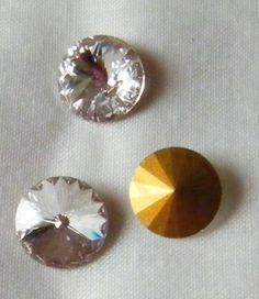 3 - rivoli swarovski art. 1122 16 mm crystal