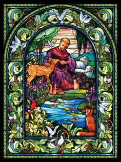 St. Franziskus Glasbild 1000