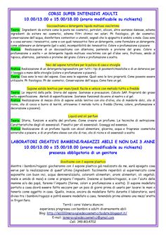 Pagina 2 programma corsi 2016 di cosmesi naturale fai da te a Roma per adulti,bambini e ragazzi