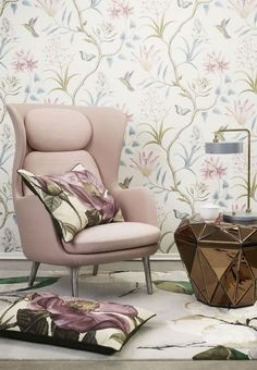 Mikkel Jul Hvilshøj - New Old English Pastel Colors, Colours, Devine Design, Country Farmhouse Decor, Cozy Corner, Wall Colors, Home And Living, Accent Chairs, Armchair