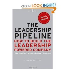 This is an excellent book for helping you setup a leadership development culture in your company.
