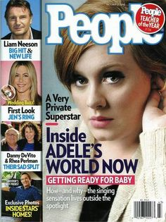 "Check out Adele on the cover of People Magazine this month ""Skyfall"" available on iTunes now!"