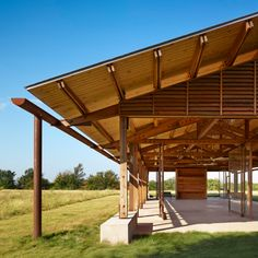 Lake Flato's visitors centre and education pavilion in Decatur, Texas is intended to be the one of the most sustainable structures in the state