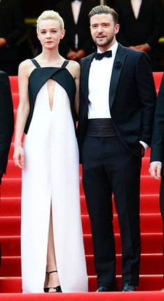 Carey Mulligan (in Vionnet) and Justin Timberlake (in Tom Ford) at the premiere of 'Inside Llewyn Davis'