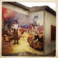 La vita italiana è bella: una australiana in Italia | Un murale di Satriano di Lucania.