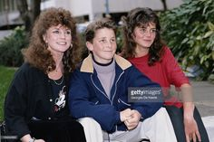 British actor Christian Bale, the star of the Steven Spielberg film 'Empire of the Sun', attend's the film's premiere, UK, 20th March 1988. He is accompanied by his mother Jenny and his sister Louise.