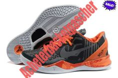 QYHT Homme Chaussure Basketball Nike Zoom Kobe VIII 8 Kobe Bryant Years Noir Orange 2014 92158