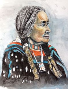 Strong One- Chief Dan George - Out of Darkness: Diane Beatty Chief Dan George, Funny Stories, First Nations, Watercolor Print, Darkness, Water Paints, Native American, My Arts, Strong