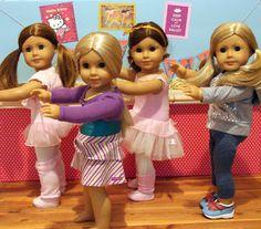 American Girl Doll Play: Doll Crafting : Creating a Dance Studio w/Barre