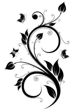Only The Best Embroidery Designs Stencil Patterns, Stencil Art, Stencil Designs, Motif Art Deco, Butterfly Images, Scroll Design, Floral Illustrations, Fabric Painting, Oeuvre D'art