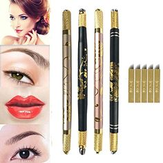 DRIBET floral microblading manual pens with blades Tattoo Set, Pens, Manual, Lipstick, Floral, Beauty, Textbook, Flowers, User Guide