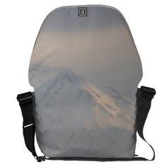 Mount Shasta: Sunset on Snow I SDL Bag 2 Messenger Bags