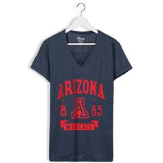 Arizona Wildcats Women's Plus Sizes Banner V-Neck T-Shirt - Navy - $34.99