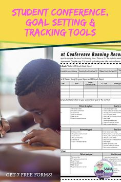 These 7 FREE forms will help students develop self-efficacy by setting goals, making a plan, and self-evaluation. Put students in the driver's seat of learning responsibility! Differentiation Strategies, Comprehension Strategies, Middle School Classroom, High School, Reading Tracker, Classroom Activities, Classroom Ideas, Letter To Parents, Teaching Resources