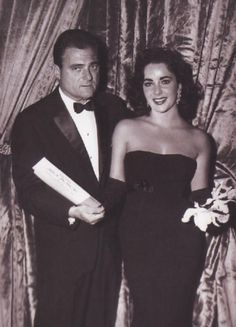 Liz with the love of her life...most people think it's Burton, but it wasn't it was Mike Todd.