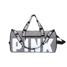02c7436517a soopream 2018 nowy VS Moda Damska Miłość Różowy torby podróżne Summer  Holiday Beach list Dufflel torby